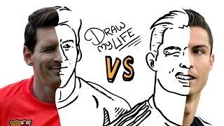 Messi vs cristiano | draw my life