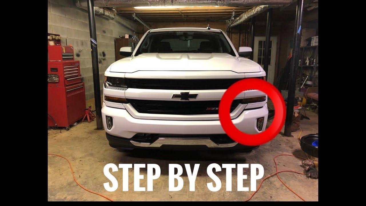 2018 Chevy Silverado >> Front bumper adjustment - 2018 Silverado - YouTube