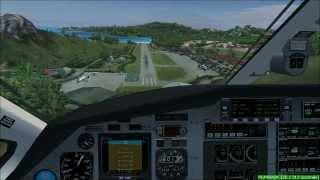 FS2004 Pilatus landing @ TFFJ Executive flight