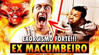 EX MACUMBEIRO POSSUÍDO POR DEMÔNIOS!!! EXORCISMO FORTEEE!!! 😱😨😱😨😱