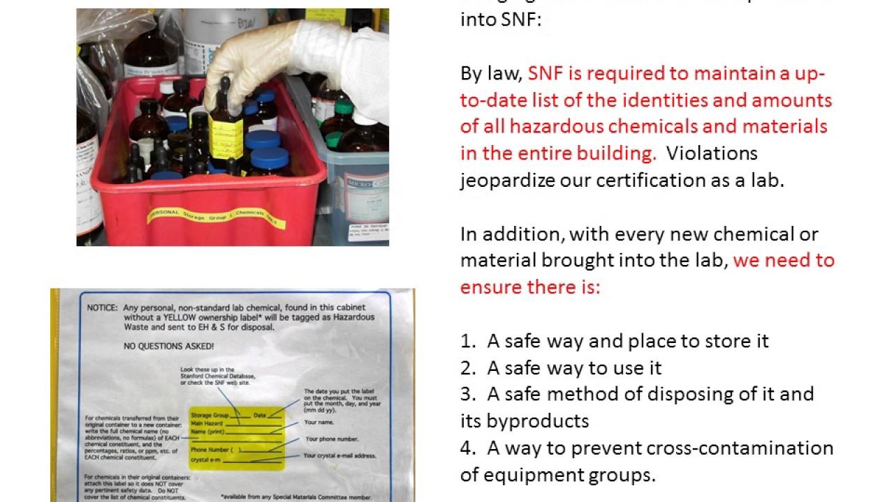 Stanford Nanofabrication Facility (SNF) Safety Video