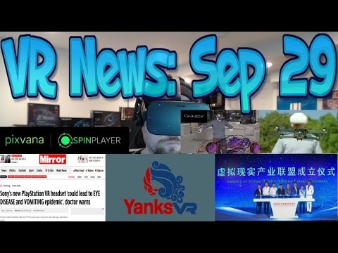 VR News: Sep 29 - China VR - HMD VR Drone Flying - Shady UK Article on PSVR & More!