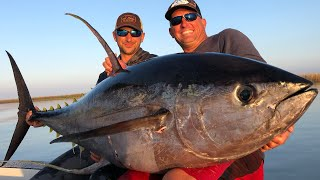 Massive Yellowfin Tuna Vs Big Blackfin Tuna {Catch Clean Cook} blind Taste test!