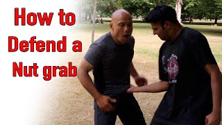 How to Defend a nut grab - Wing Chun street fight