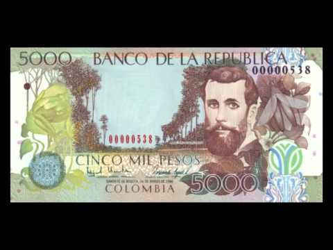 All Colombian Peso Banknotes - 1993 to 1995 Issues