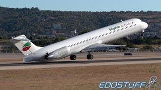 MD-82 Near Tailstrike during takeoff at Split airport !