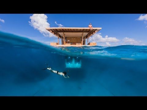 The Manta Underwater Room  | Genberg Underwater Hotels | Pemba Island, Tanzania | HD