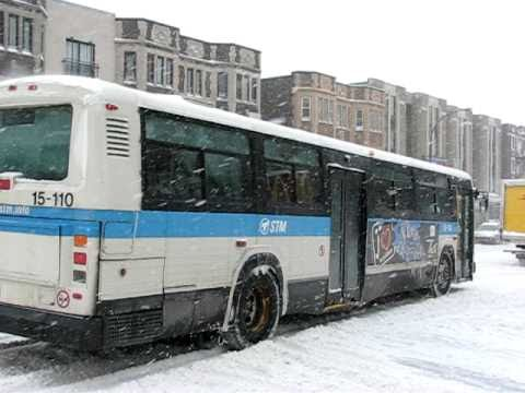 Montreal Stm Bus 15 110 Mova Classic In Snowstorm March 7