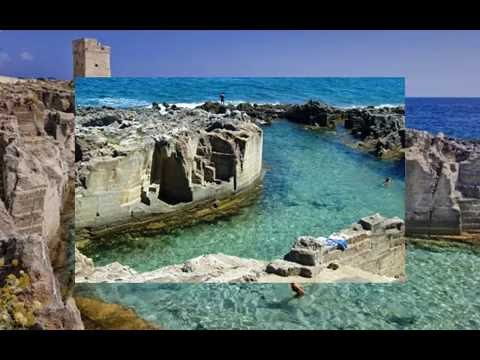 Puglia le piscine naturali di marina serra youtube for Marinal piscine