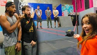 OVERNIGHT AT SUPER TRAMPOLINE PARK! (100mph Sling Shot Dodgeball)