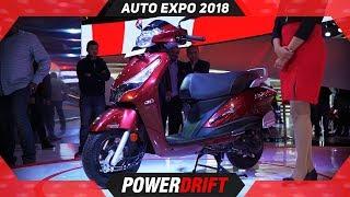 Hero Duet 125 @ Auto Expo 2018 : PowerDrift