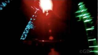 hd onride rock n rollercoaster new light show at walt disney studios paris