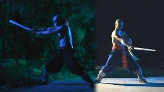 Katana Samurai Sword & Jian Taichi Sword Freestyle