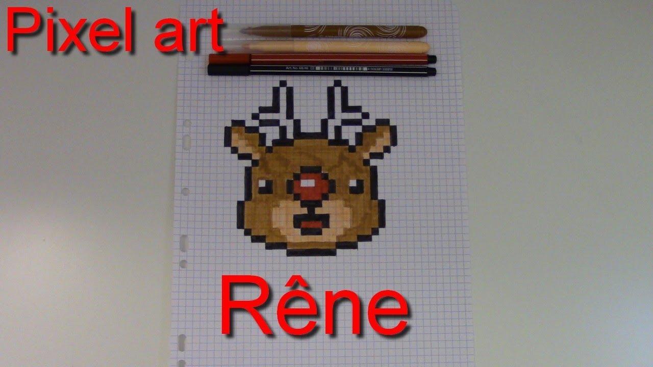 Tuto Renne En Pixel Art Spécial Noël 5