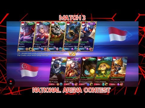 INDONESIA vs SINGAPORE Match 3 | 17 April 2018 | Mobile Legends National Arena Contest