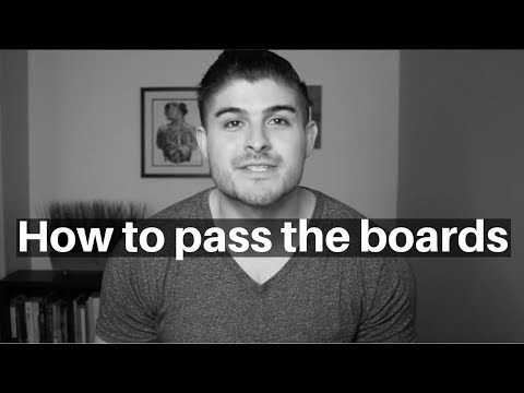 How to pass the Boards (PANCE and PANRE)