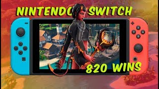 Solid Gold scrims! Fortnite Nintendo Switch - level 75 // high kill solo games // 820 wins