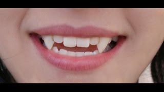 how to make fangs in less than 30 seconds using only gum