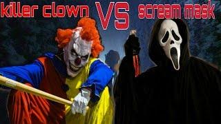 Killer Clown Vs Scream Prank Top 5 ATTACKS!Scare Prank Compilation 2017