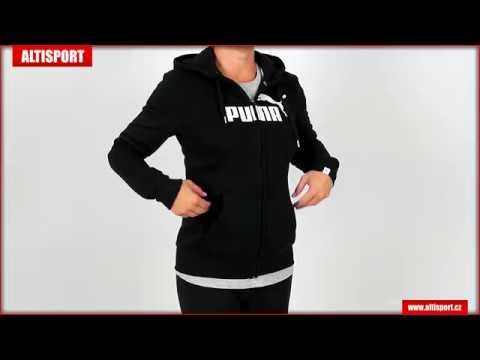 dámská mikina puma ess no 1 fz hoody fl w 83841401 black - YouTube 1f11ce8c79