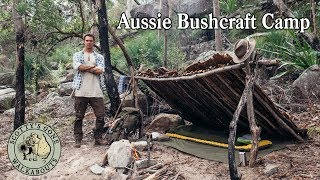 Aussie Bushcraft Camp Upgrade- Overnight with Wool Blanket