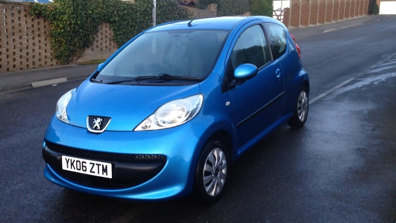 Peugeot 107 Virtual Tour and Startup - YouTube