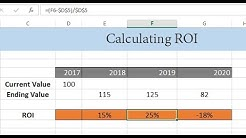 How to Calculate ROI (Return On Investment) in Excel