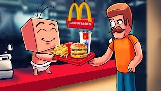 Minecraft | Who's Your Daddy? Secret Reviewer + Mcdonalds = SHUTDOWN! (Dad's Disguise)