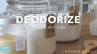 DIY: Deodorize Carpet and Rugs Naturally | The Normal Girl Show