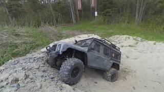 Traxxas TRX-4 Defender 3S Sand Pile Hill Climb! - Netcruzer RC
