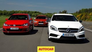 Mercedes A45 Amg Vs Volkswagen Golf Gti Vs Bmw M135i - Hot Hatch Mega Test - Autocar.Co.Uk