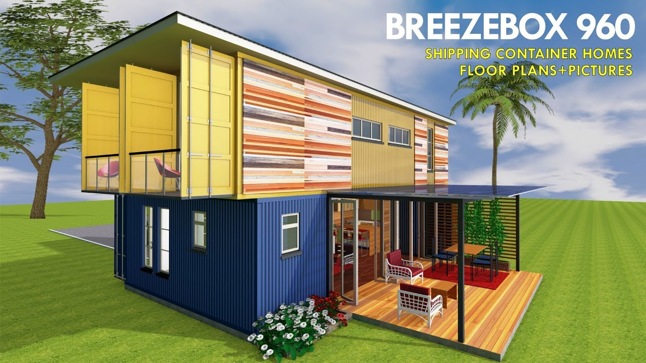 Prefab Shipping Container Homes Design With House Floor Plans And Pictures Breezebox 960