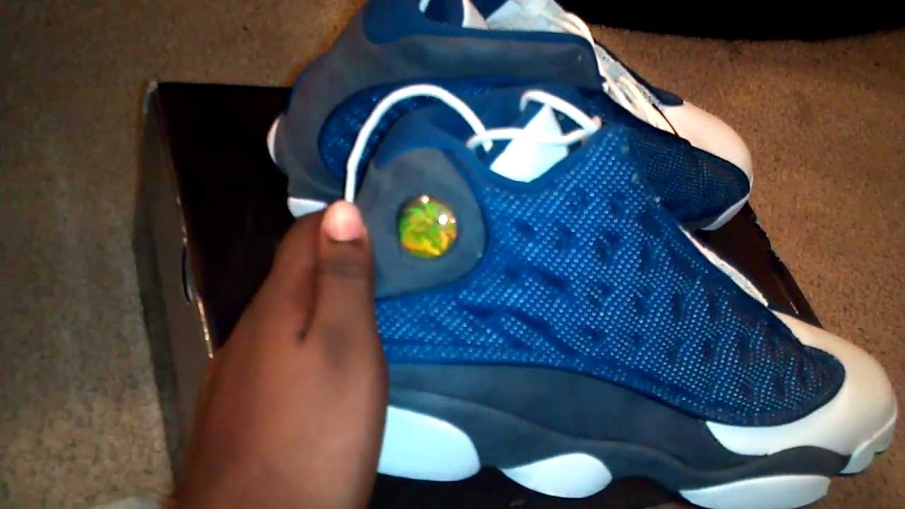 pretty nice 01461 3f017 Air Jordan XIII (13) Flint 2010 Retro Unboxing - YouTube