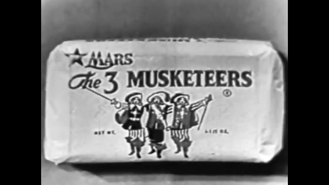 3 Musketeers Candy Bar Vintage TV Commercial HD - YouTube