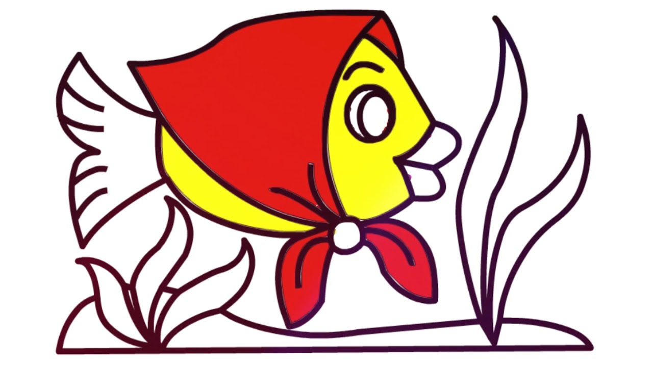 How to Draw a Cartoon Fish Cute and Easy | Cartoon Fish ...