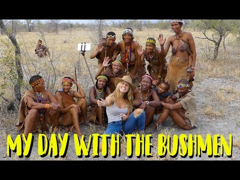 My Day With The Bushmen of the Kalahari.  The San Tribe.