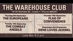 The Comsat Angels Live The Warehouse Leeds, England Sep 1982