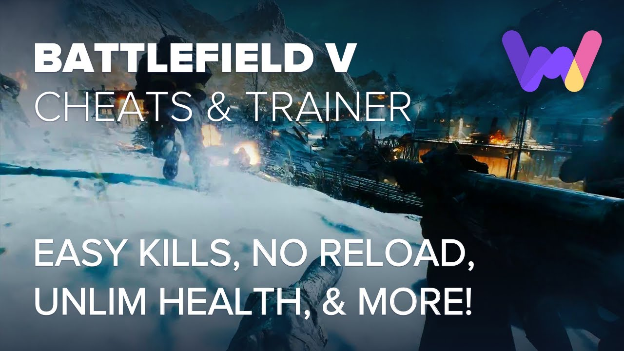 Battlefield V Trainer +6 Cheats (Unlim Health, Unlim Ammo, Easy Kills)