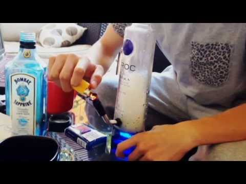 how to make a ciroc bottle into a bong
