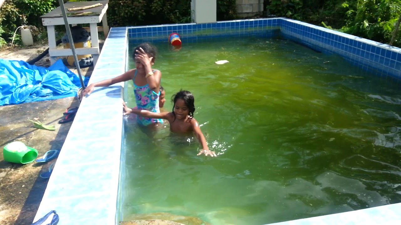 kid swimming dirty water pool part 3