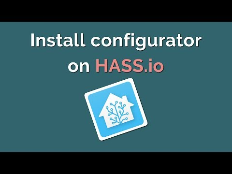 Configure Hass io in the browser using Configurator - YouTube