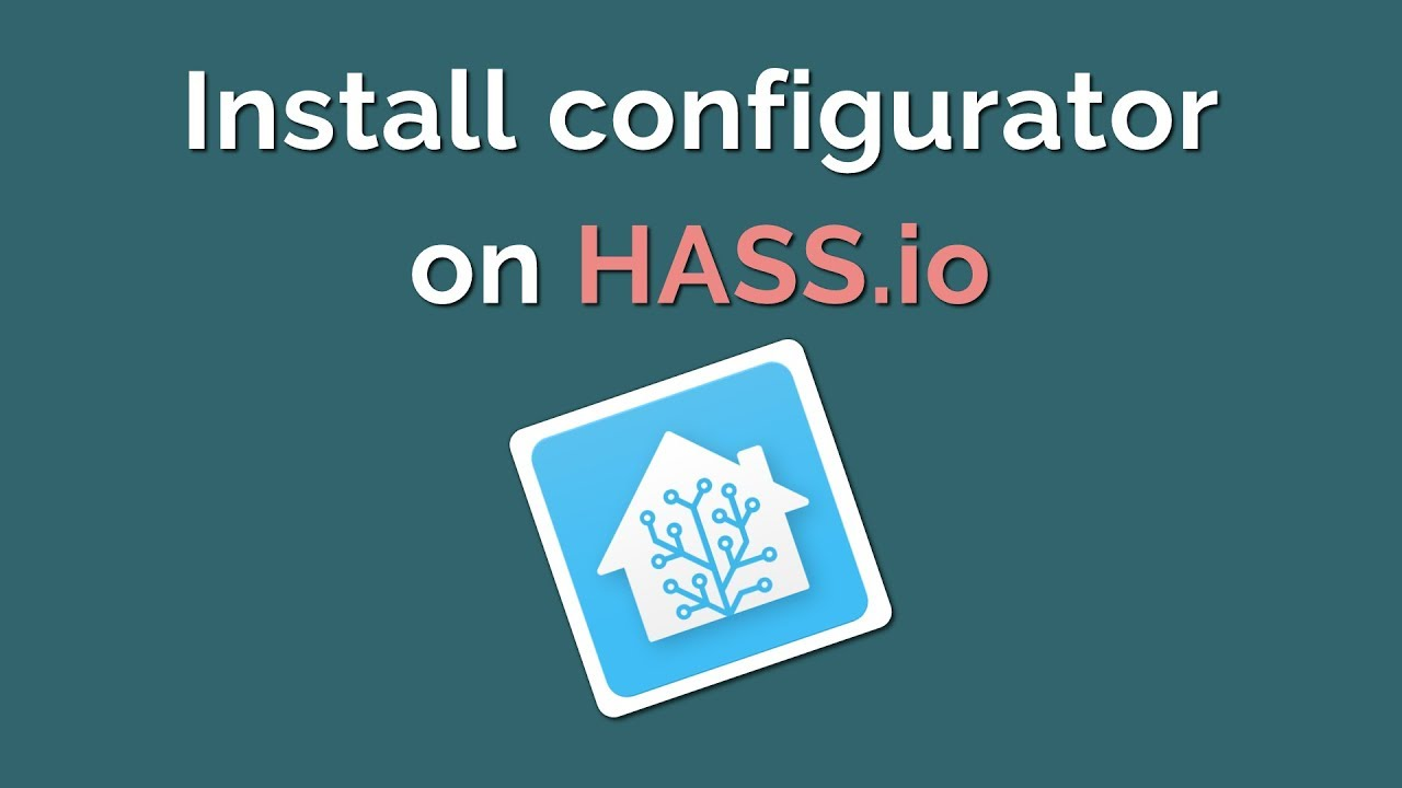 Configure Hass io in the browser using Configurator