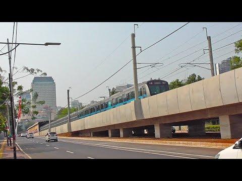 Ujicoba MRT Jakarta Memasuki Jalur Rel Bawah Tanah Menuju Stasiun Bundaran HI Mp3