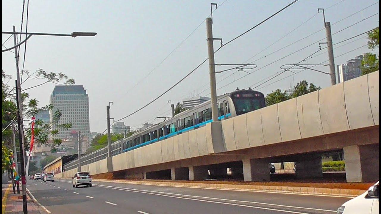 Ujicoba Mrt Jakarta Memasuki Jalur Rel Bawah Tanah Menuju Stasiun