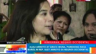 NTG: Aleli Arroyo at Grace   Ibuna, parehong nasa burol ni   Rep. Iggy Arroyo sa Negros   Occidental