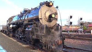 SANTA FE 3751 Steam Locomotive Departure 2017