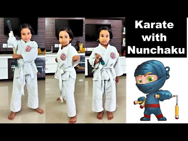 Nunchaku Training  in Hindi / karate nunchaku training / how to use nunchaku  / Pari / Lesson -2