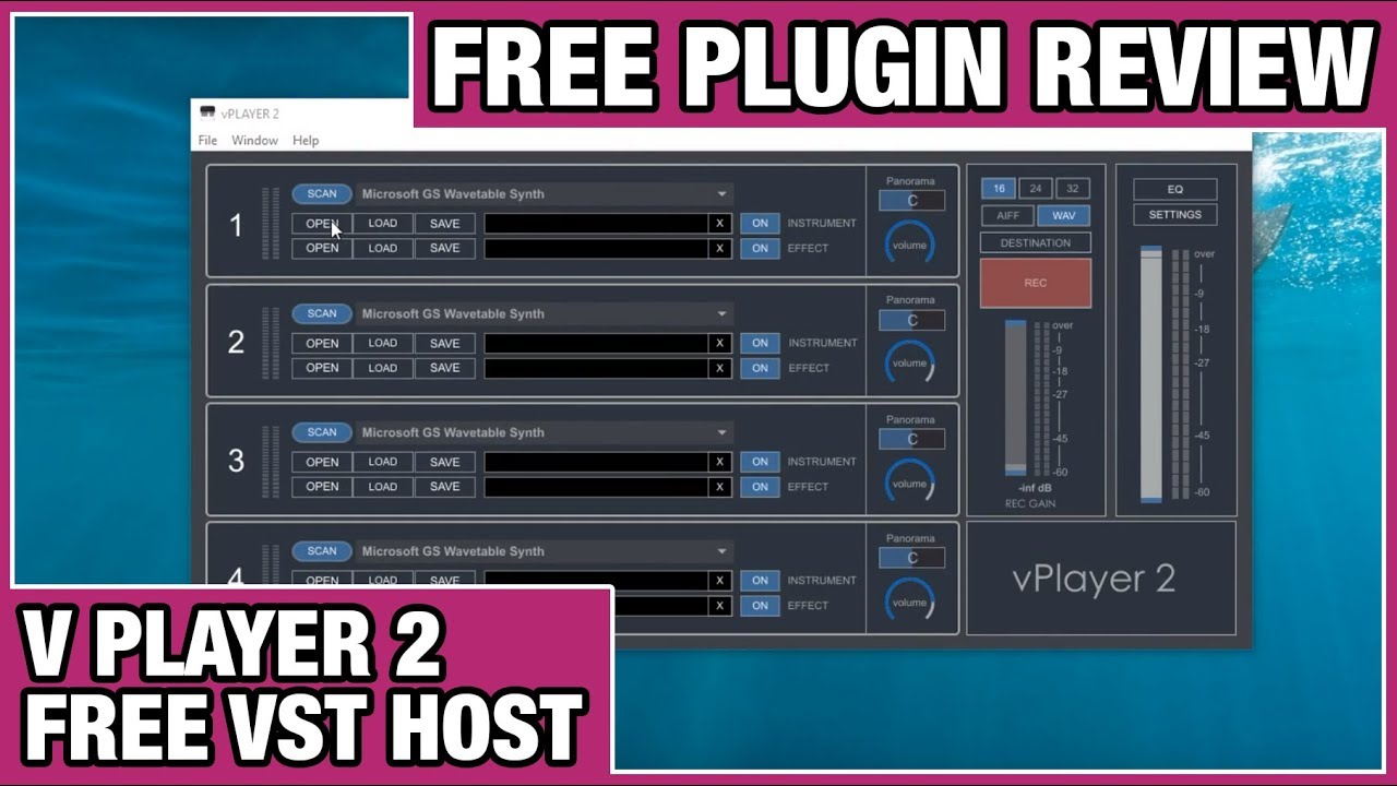 V Player 2 Review (Free Standalone VST Host)