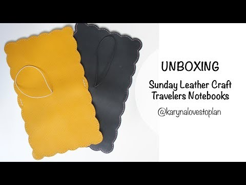 UNBOXING: Sunday Leather Craft B6 Travelers Notebooks