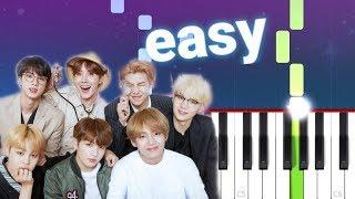 BTS (방탄소년단) HEARTBEAT (100% EASY PIANO TUTORIAL)